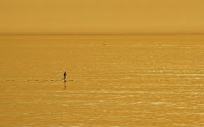 человек, море, минимализм