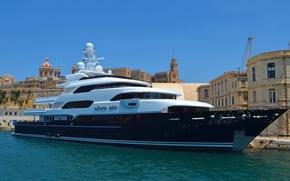 refleksje, cumować, jacht, estakada, miasto, Marzec CNN, budynek, blask, Inne maszyny i urządzenia, morze, sprzęt, niebo, statek, woda, port