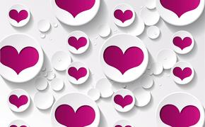 фон, сердечки, любовь