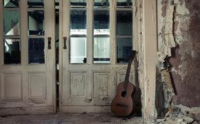 door, guitar, Music