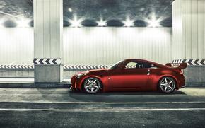 tunnel, Car, Nissan, Nissan