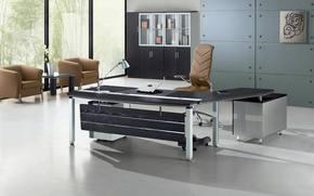 gabinete, interior, estilo, espacio de trabajo, oficina, diseño