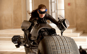 боевик, кино, здание, Тёмный рыцарь  Возрождение легенды, фильм, фантастика, актриса, Энн Хэтэуэй, мотоцикл, размытие