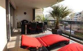 balcone, progettazione, situazione, città, stile, interno