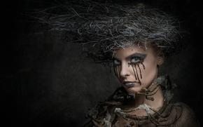причёска, портрет, макияж, креатив