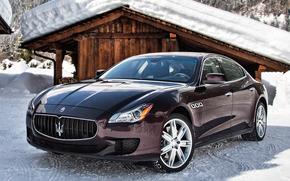 Maserati, Italiano, Maserati, nevicata, auto