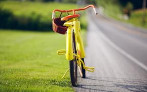 jaune, Vintage, vélo
