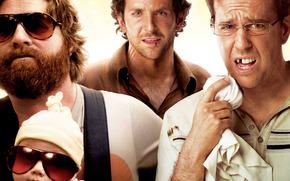 Ed Helms, Bradley Cooper, gafas, Zach Galifianakis, bebé