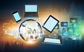 Internet, redes sociales, de alta tecnología