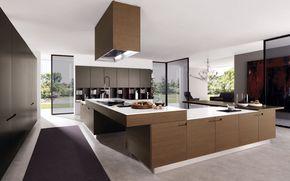 interno, cucina, stile, villa, progettazione, Moderno