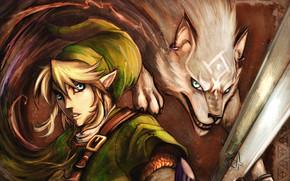 sword, magic, earring, ears, belt, elf, hair, white wolf