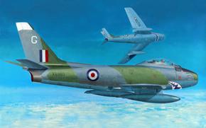 ВВС Италии, небо, истребители-бомбардировщики, рисунок, реактивные, одноместные, арт