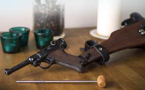 butt, Luger, gun, Parabellum