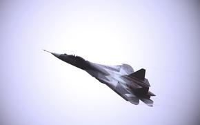 Россия, Авиация, ВВС, Крылья, День, Взлет, многоцелевой, ПАК ФА, истребитель