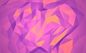 оранжевый, графика, векторная, фиолетовый, абстракция, яркий