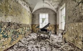 комната, рояль, музыка