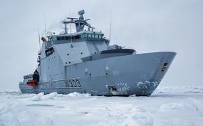 Norwegen, Eis, Andere Maschinen und Anlagen, Eisbrecher, Patrouillenboot