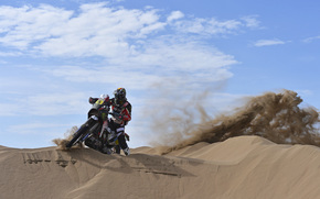 gas, Day, sky, Dakar, motorcycle, Heat, motorcycles, dune, racer