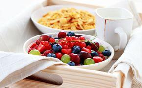 fruit, food, fullscreen, background, strawberries, raspberries, currant, BERRY, blueberries, Widescreen, Widescreen, wallpaper, mug, grapes