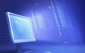 компьютер, монитор, Hi-Tech, текст, мышь, каталог, файловая система, структура, сетка, проекция