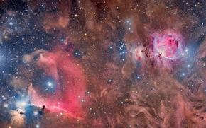 звезды, космос, туманность