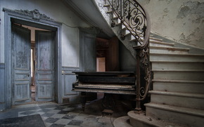 door, piano, Music