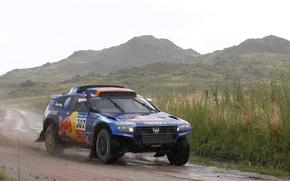 pioggia, Coperto, Frontale, Sport, Volkswagen, blu, SUV