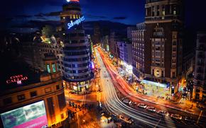 马德里, 西班牙, 夜