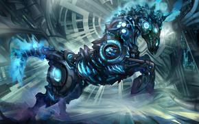 Fantasie, Cyborg, Kunst, Roboter, Pferd, Mechanismus