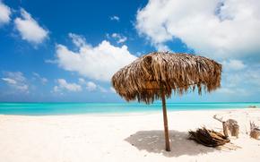 tropics, summer, beach, shore, ocean, nature