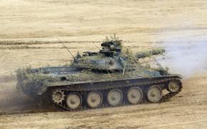 Japonês, tanque, campo, batalha