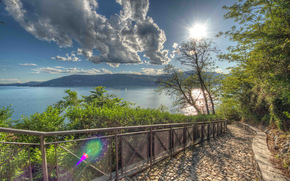 Lombardy, Varese, TRACK, lake, Lake Maggiore, Italy, trees, Mountains