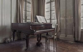 Music, piano, room