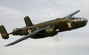 flight, retro, bomber, sky, plane
