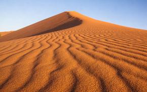 пустыня, небо, природа, абстракции, узор, линии, бархан, песок, текстура, дюна