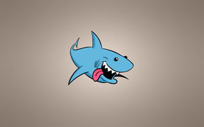 shark, FISH, minimalism, light background