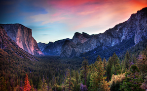 valley, Yosemite National Park, Mountains, Rocks
