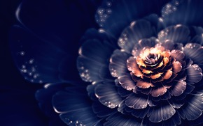 свет, абстракция, пятна, боке, цветок, фрактал, графика