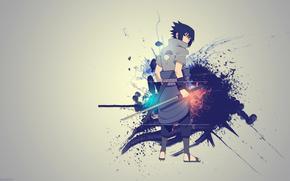 Naruto, Kusanagi, Creativity, sword, Sasuke Uchiha
