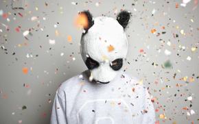 maschera, panda, Musica, Carlo Waibel