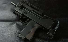 metralhadora de mão, arma, compacto