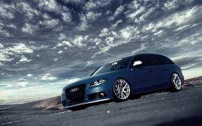 Audi, Синяя, Диски, Ауди