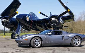 истребитель, ГТ, Ford, Форд, аэродром, суперкар