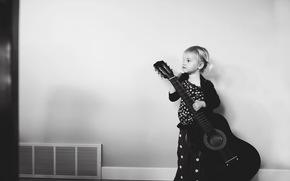 chica, Música, guitarra