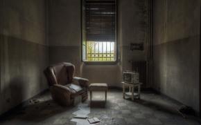 chair, TV, interior, room