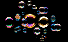 background, bubble blower, black