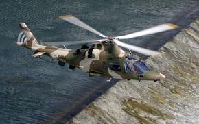 вертолёт, летит, лёгкий, порог, река, Италия, многоцелевой