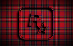 star, volume, tartan, cloth, emblem, rock