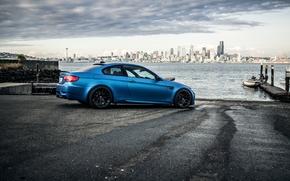 Side view, Drives, wharf, Black, PEARCE, BMW, BMW, blue satin, Seattle