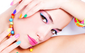chaplet, manicure, makeup, face, COLOR